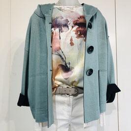 Türkisfarbene Jacke in Größe S-L