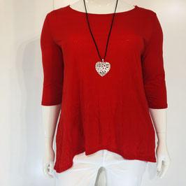 Rotes Shirt im Knitterlook in Größe XL/XXL