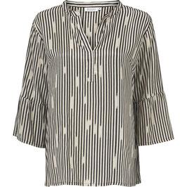 Masai Bluse schwarz/weiß gestreift