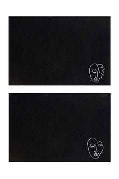 Filz-Platzsets schwarz