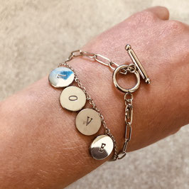 Silbernes Edelstahl Armband Love