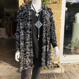 Schwarz-weiße Jacke von Adini in L/XL