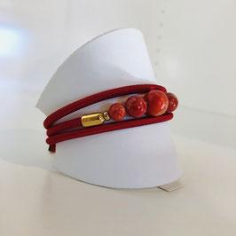 Rotes Designer-Armband von Nature
