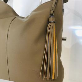 Braun/Taupe farbene Handtasche mit Quaste