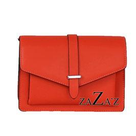 Kleine Handtasche mit Überschlag - rot