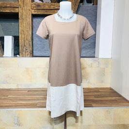 2-farbiges Kleid in 2 Erd-Tönen