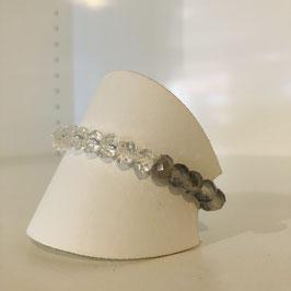 Armband weiß/grau/transparent