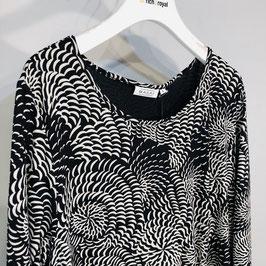 Masai Kleid schwarz/weiß Spiralen