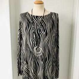 Feines Strick-Kleid von Masai in Schwarz und Braun - Größe L