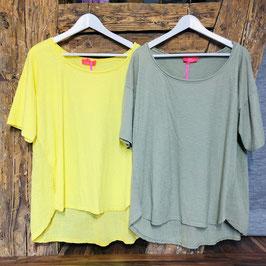 Shirt in einer Einheitsgröße (ca. Größe XL) -  Olivgrün