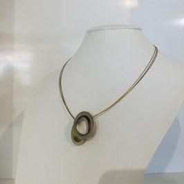 Gold-silberne  Designer-Kette mit Kreisen
