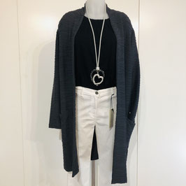 Strukturierte dunkelgraue Jersey-Jacke in Größe M