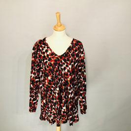 Masai Bluse rot/schwarz mit Leo-Print