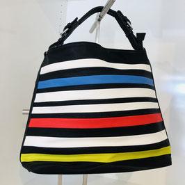 Bunt-gestreifte Handtasche