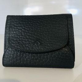Genarbte Leder-Geldbeutel von VOI in Schwarz