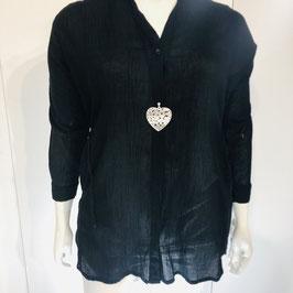 Leichte schwarze Masai Bluse