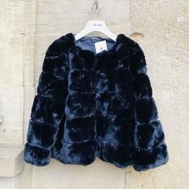 Kuschelige schwarze Kunstfell-Jacke GrößeS/M
