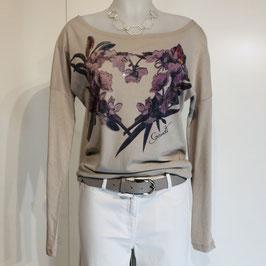 Gaudi-Shirt in Beige mit Print