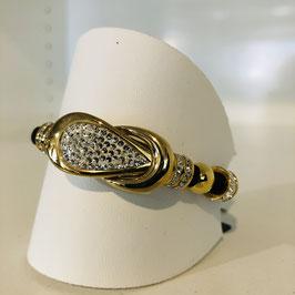 Armband gold Strass ineinander verschlungen