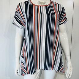 Orange-blau-weißes Shirt von Zedd Plus - Größe XL