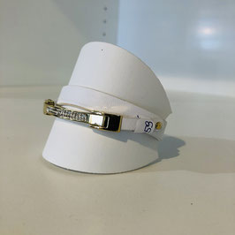 Armband weiß/gold 2 Lagen