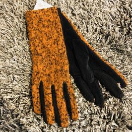 Handschuhe orange-braun/schwarz