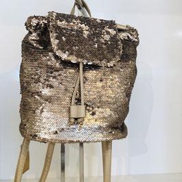 Rucksack gold mit Pailetten