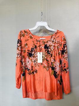 Bluse Koralle Masai Blumen