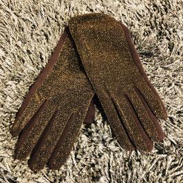 Handschuhe gold-braun schimmernd
