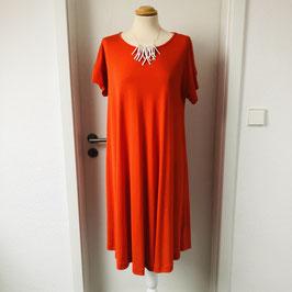 Orangenes Masai Kleid Kurzarm