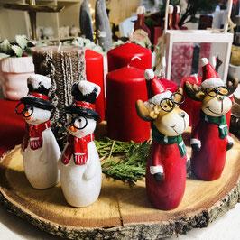 Weihnachtsfiguren - Schneemann oder Weihnachtsrentier
