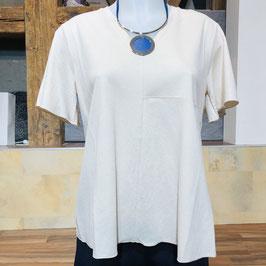 Hochwertiges Kurzarm-Shirt in Creme