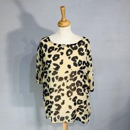 Masai T-Shirt Leoprint creme/schwarz
