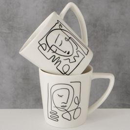 Tasse mit Kunst-Print