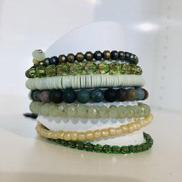 Wickelarmband in Grün von Jubelle