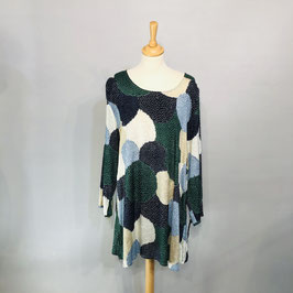 Grün/beige/blaues Masai-Kleid - Gr. XXL