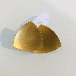 Goldene Designer-Ohrringe von Petra Meiren / Dreieck / Stecker