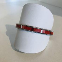 Leder-Armband rot