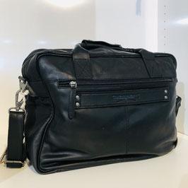 Schwarze Ledertasche/Businesstasche / auch für Herren