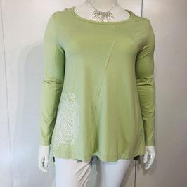 Pastellgrünes Nook-Shirt mit weißem Print - Größe XL und XXL