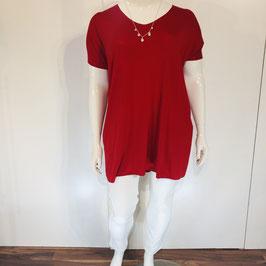 Leichtes Tshirt in Rot einer Einheitsgröße (große Größe)