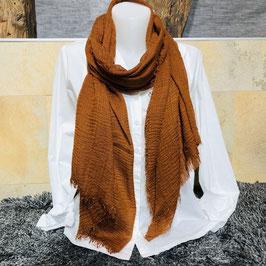 Schal in Cognac-Farbe