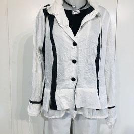 ABSOLUT Bluse schwarz/weiß/grau