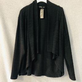 Schwarze, strukturierte Jacke in Größe XL/XXL