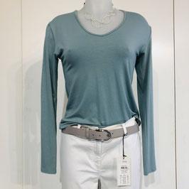 Türkisfarbenes Shirt mit tollem Rückendetail - Größe S