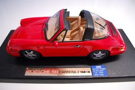1:18 Porsche 911 Carrera 2 Targa rot
