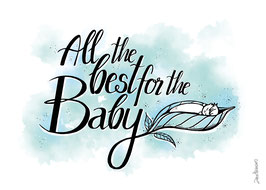 "Postkarte ""All the best for the baby"""
