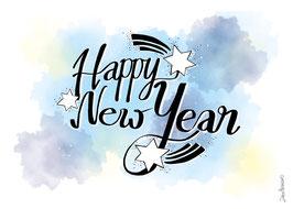 "Postkarte ""Happy New Year"""""