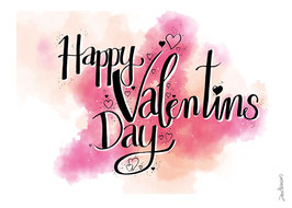 """Postkarte """"Happy Valentine"""""""