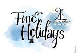 """Postkarte """"Fine Holidays"""""""